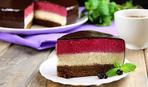 """Современные десерты: черничный муссовый торт """"Лесная ягода"""" с зеркальной глазурью"""
