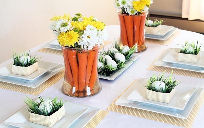 Праздничный стол: цветочные композиции к Пасхе