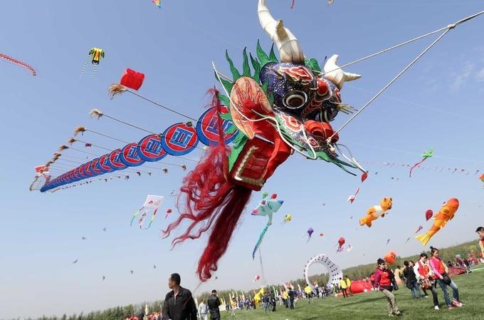 Драконы Китая: фестиваль воздушных змеев