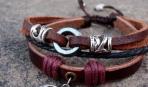 Модный кожаный браслет своими руками: мастер-класс