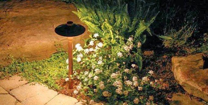 Освещение в саду: 3 главных особенности