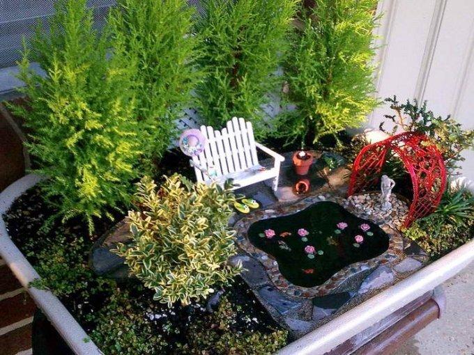 Красота миниатюрных садов на балконе и терассе