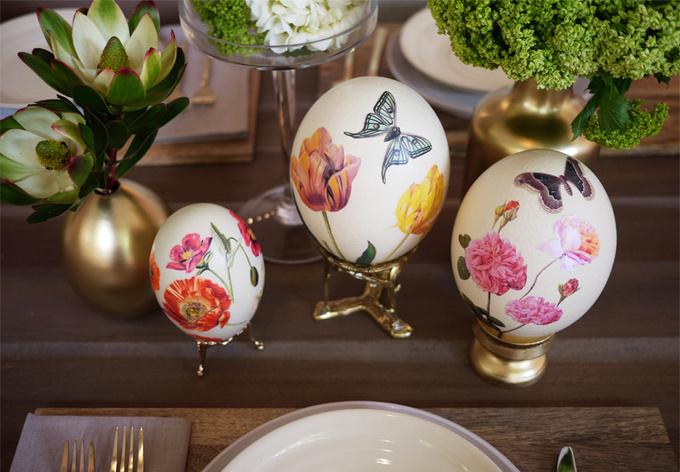 Декупаж пасхальных яиц: 2 лучших способа