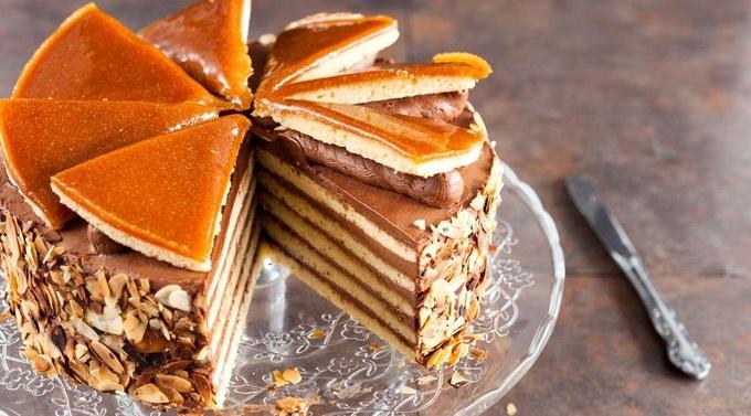 Венгерская сладость: торт «Добош», который долго хранится
