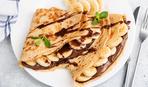 Рецепт на скорую руку: шоколадные блины с бананом