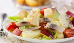 Зимний салат из яблок и сельди