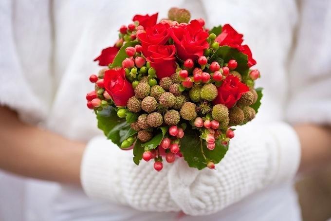 Зимняя свадьба: как правильно выбрать букет невесты