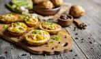 Картофельные лодочки с беконом