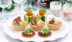 Новогодние закуски: тарталетки с печеночным паштетом