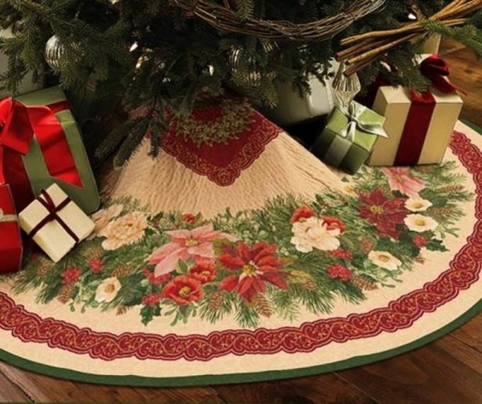 Новогодние приготовления: «юбка» для елки (видео)