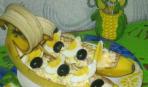 Конкурсное блюдо: салат в банане «Праздник»