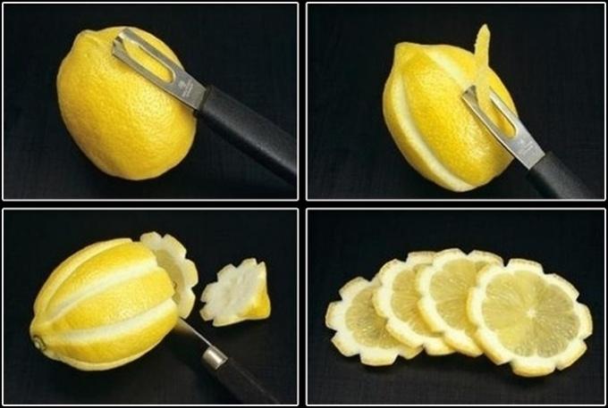 Секреты эффектных блюд: роза из лимона (видео)