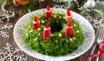Праздничное меню: салат «Рождественский венок»