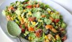 Зеленое дополнение к обеду: салат «Вспоминая лето»