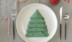 Новогодний декор: как сложить елочку из салфеток (видео)