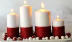 Украшаем свечи к празднику