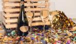 2 в 1: креативный подарок из шампанского и конфет
