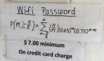 Ресторан зашифровал пароль Wi-Fi в сложное уравнение