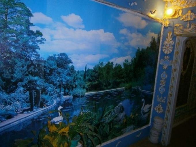 Киевский пенсионер сделал из подъезда «Версаль»