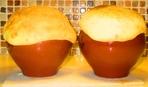 Жаркое в горшочках под хлебной шапкой