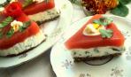 Закусочный тортик «Помидорно-сырное волшебство»