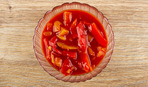 Зимние заготовки: перец с хвостиками в томатном соке