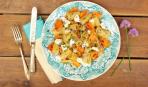 Идея для ужина: пряные макароны с тыквой и творогом