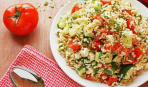 Теплый салат с рисом «Мечта японца»