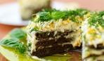 Печеночный тортик с творожной прослойкой (проверенный бабушкин рецепт)
