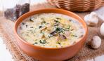 Суп из баклажанов с грибами