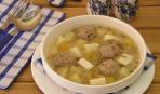 Болгарский суп с сырными шариками