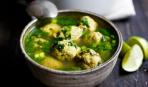Суп с «изумрудными» фрикадельками