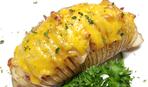 """Картофельные """"Королевские ракушки"""" с ветчиной и помидорами"""