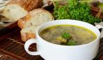 Суп со шпинатом и фрикадельками