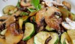 Грибы с кабачками в соусе балканский рецепт на скорую руку