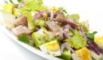 Салат овощной с сельдью на ужин