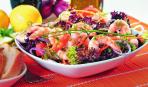 Салат лолло-росса с креветками