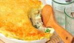 Картофельная запеканка с рыбой и сыром