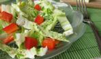Салат из капусты с красным перцем