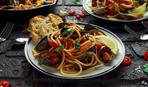 Простой но вкусный ужин: мидии в спагетти со сливочным соусом