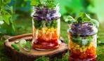 Слоеный овощной салат в банке