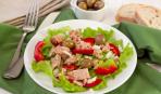 Простой и вкусный салат из тунца с болгарским перцем