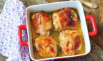 Куриные бедрышки в лимонно-медовом соусе