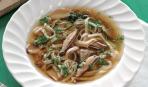 Суп с белыми грибами и вермишелью