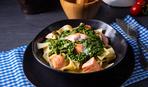 На вкусный ужин: паста с семгой и шпинатом