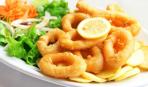 Закуска к пиву: кольца кальмаров в кляре
