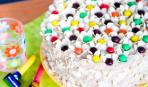 """Торт """"Миндальные цветы"""" с ягодами и творогом"""