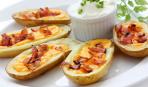 Запеченный картофель с сыром и беконом