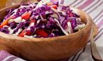 Постный салат из капусты с болгарским перцем