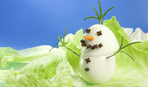 Детский Новый год: снеговичок из яиц